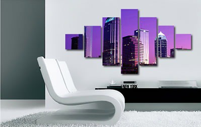 Miami Purple Hue 7 Panel
