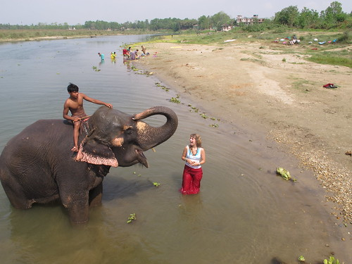 Brenna Holeman in Chitwan National Park, Nepal