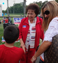 Meeting a young constituent in Nanuet