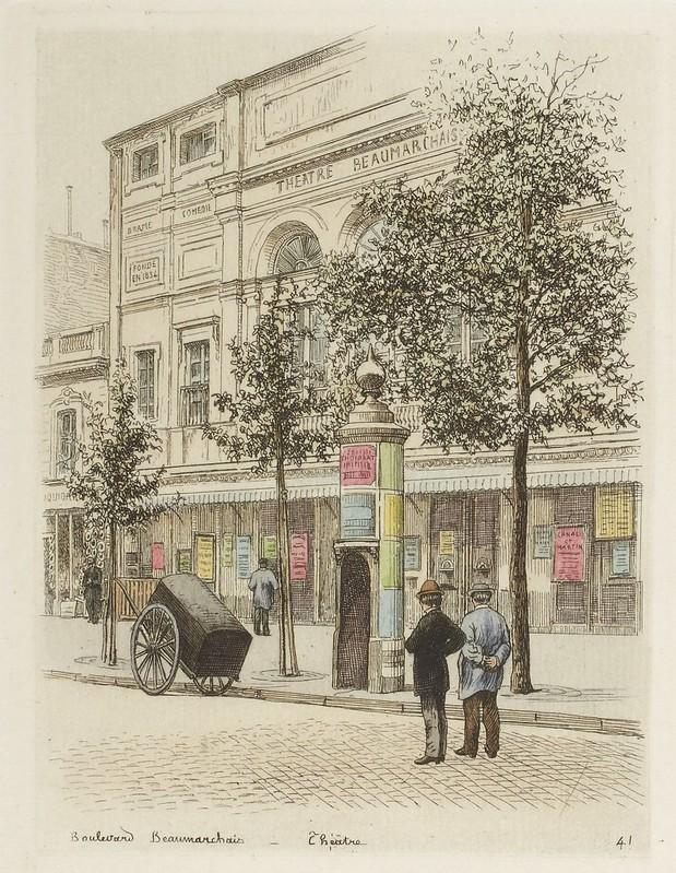 Boulevard Beaumarchais - Théâtre Beaumarchais 1877