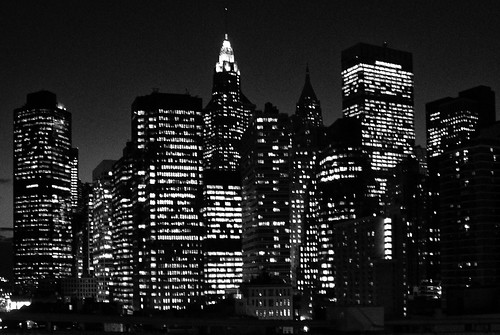 無料写真素材, 建築物・町並み, 都市・街, ビルディング, 夜景, モノクロ, 風景  アメリカ合衆国, アメリカ合衆国  ニューヨーク