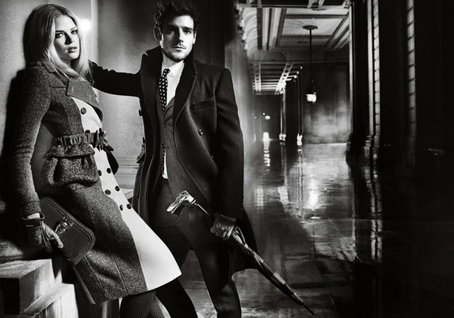 2 Burberry Autumn Winter 2012 Ad Campaign featuring Gabriella Wilde and Roo Panes