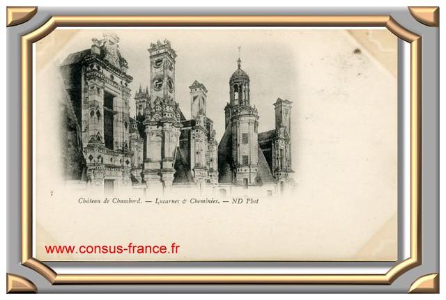 Château de CHAMBORD_Lucarnes et Cheminées -70-150