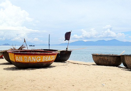 An Bang Beach basket boats. Hoi An.