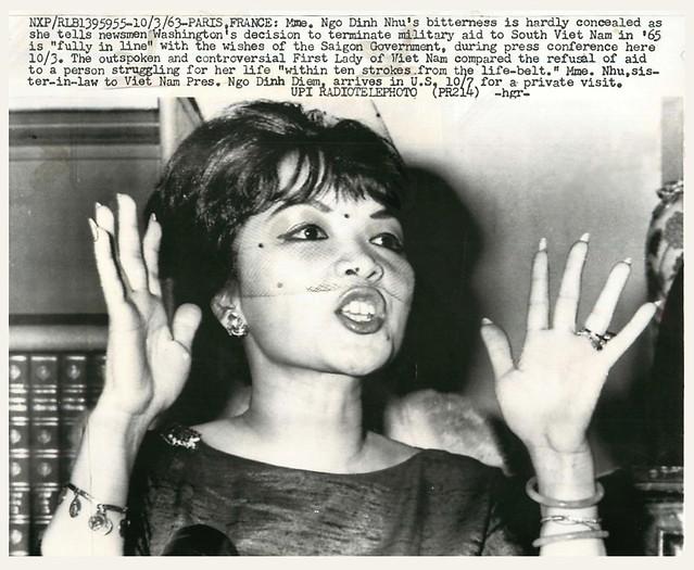 PARIS, FRANCE (3 Oct. 1963) - Mme. Ngo Dinh Nhu