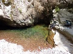 Trace cairnée de Tana di l'Orsu : la vasque du Fangu