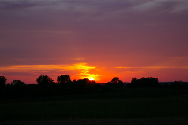 Sunset Saturday 14 July 2012