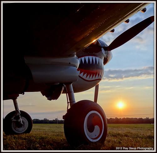 sunset airshow p40m sonyhx9v 2012geneseonyairshow