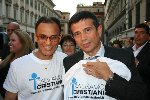 Maurizio Lupi con Magdi Cristiano Allam