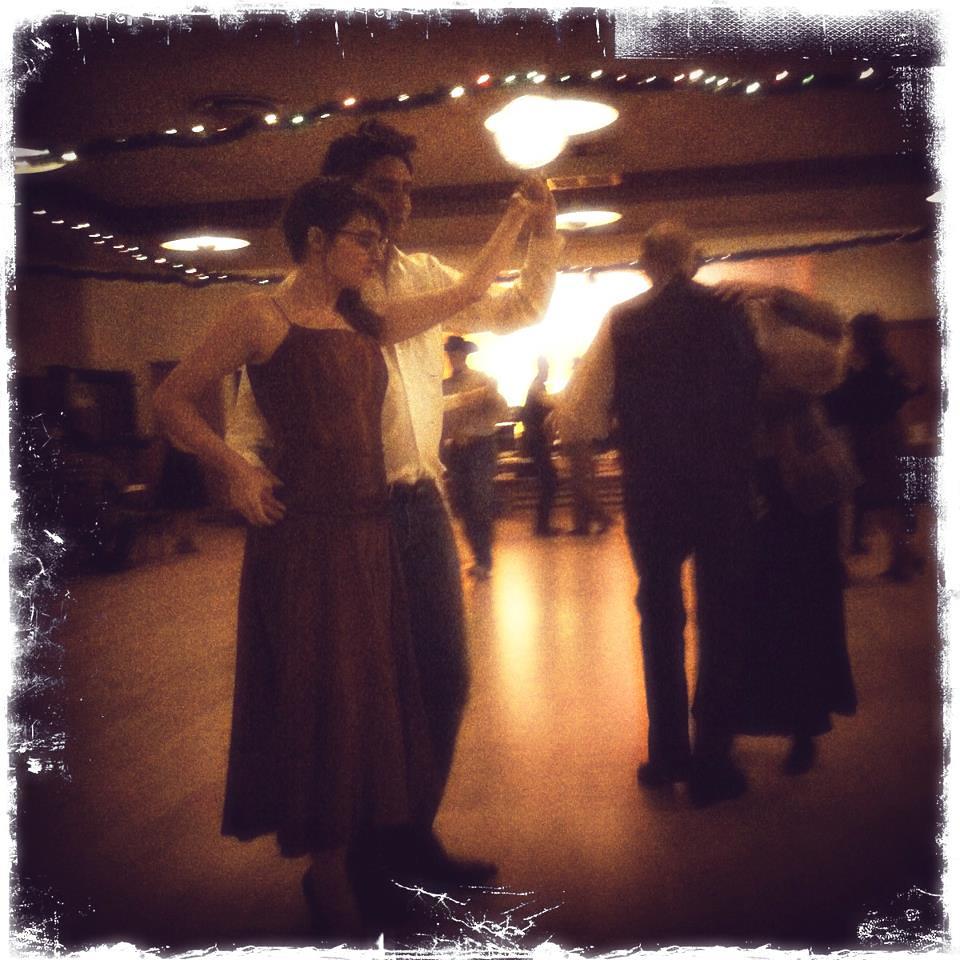 Amos and I dancing