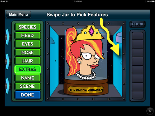 Futurama Head In Jar  iPad or iPhone APP