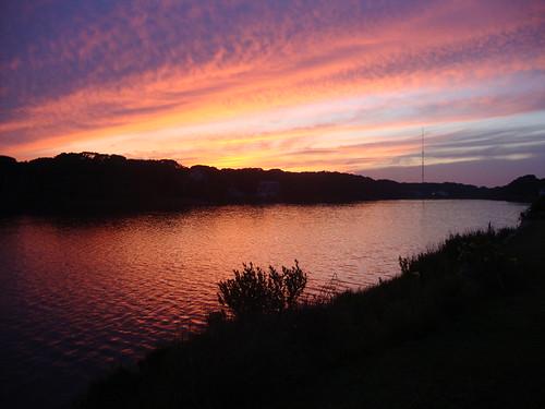 sunset pond capecod massachusetts falmouth antenna