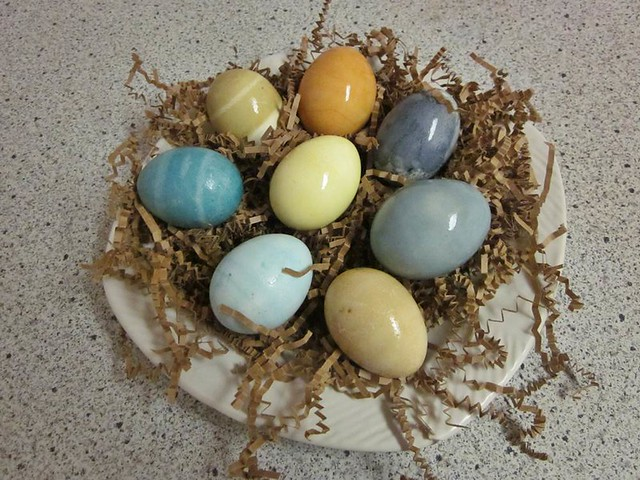 Naturally dyed - zero food coloring Easter eggs