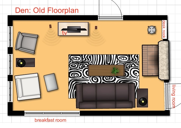 old floor plan den