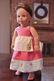 Doll Reverse Knot Apron Dress