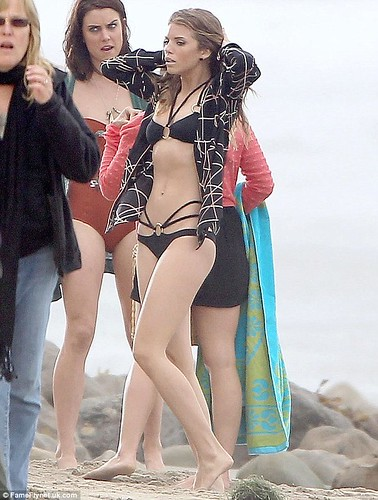 AnnaLynne McCord Black Swimsuit---