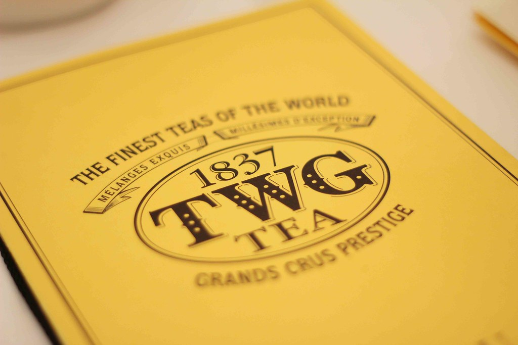 1837 TWG Tea Menu