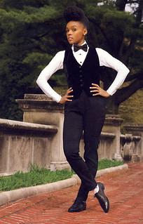 Janelle Monae in a tuxedo