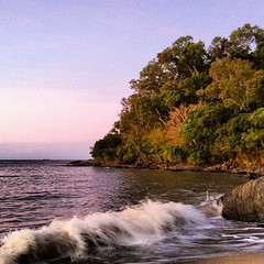 A small private beach I discovered during my evening run