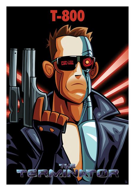 Posters de Filmes em animações exterminador do futuro