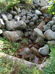 Orange water down spillway