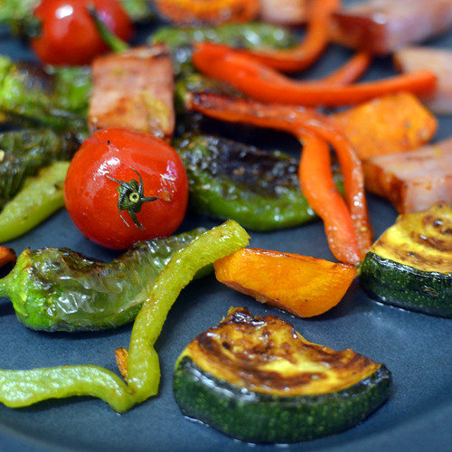Crazy Grilled Veggies Mix with Bacon (detail) by Hugo Alexandre Cruz