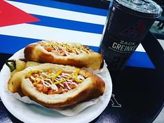 They have Sonoran Hotdogs from El Güero Canelo at the ballfield! Sweet!