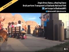 Brulé perform Transparent / Jingle Dress Dance (a healing dance) at Badlands National Park @BadlandsNPS @brulerecords