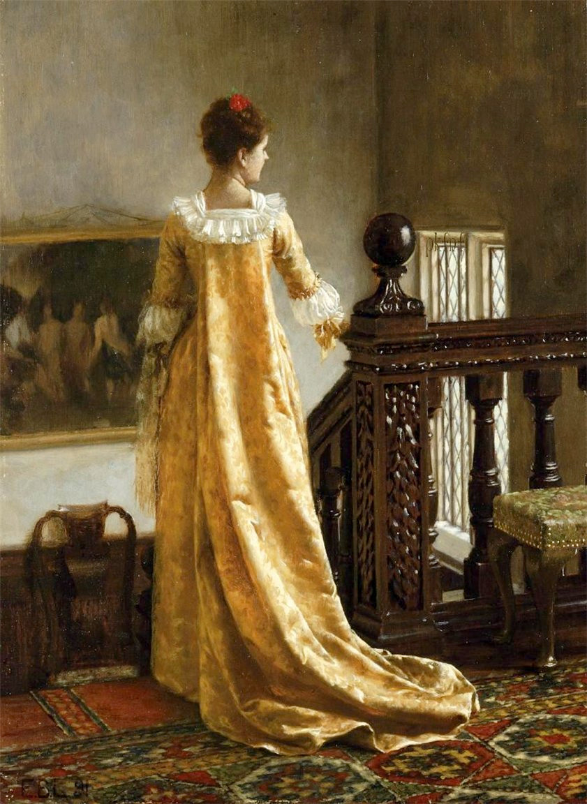 The Golden Train by Edmund Blair Leighton