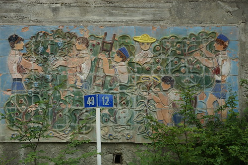 Commie murals- the grape harvest by CharlesFred