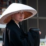 Buddhist Nun at Kiyomizu-dera Temple - Kyoto, Japan
