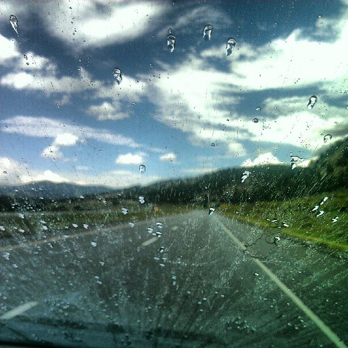 More rain in the high desert. (Enhanced for contrast.)