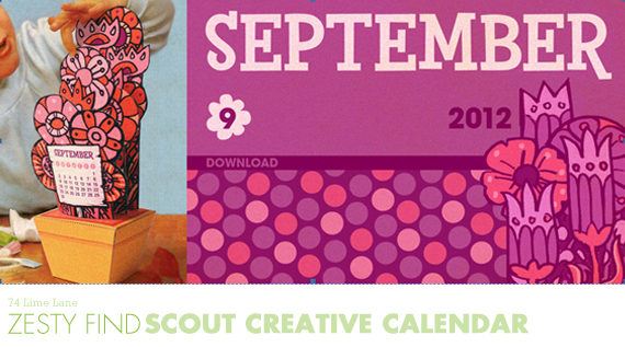 {zesty find} scout creative september calendar