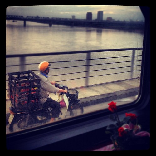 Crossing the Red River on the Victoria Express. #Hanoi #Vietnam #Travelingram
