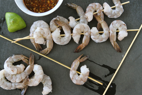 Sweet & Spicy Grilled Shrimp Recipe with Marmalade Molasses Sauce