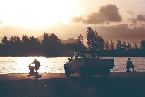 auto sea sky water car silhouette clouds sunrise wasser wolken seychelles sonnenaufgang seychellen