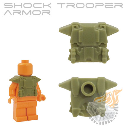 Shock Trooper Armor - Olive Green