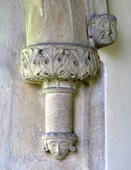 Medieval Corbel Carving, the Church of St Michael and St Martin, Eastleach Martin, Gloucestershire, England