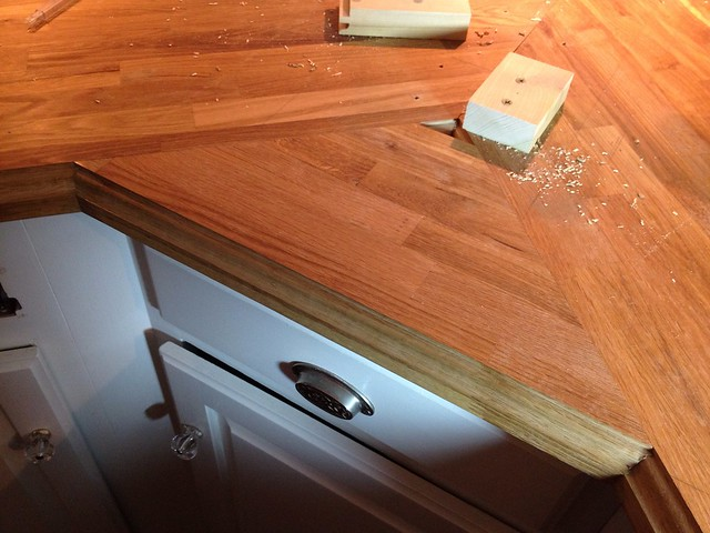 stick a fork in them the ikea butcher block counters are