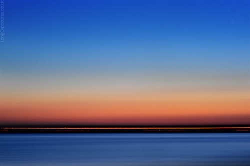 camera blue sunset sea orange abstract blur landscape movement minimal icm 4657