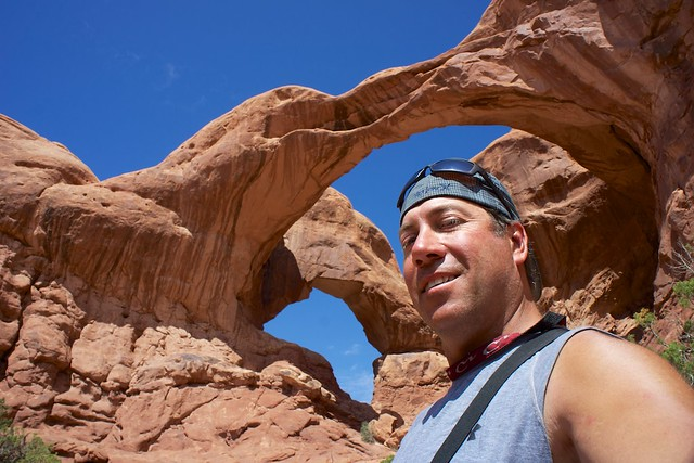 dan at the double arch