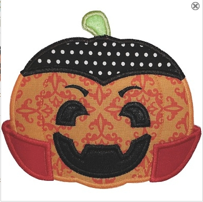 Vampire pumpkin applique