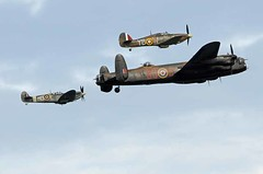 aviation, airplane, propeller driven aircraft, vehicle, fighter aircraft, propeller, avro lancaster, air force, air show,