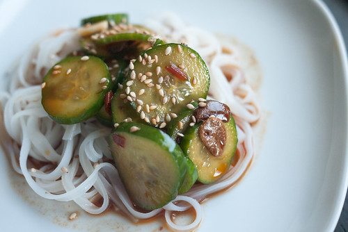Spicy Sichuan Cucumber Salad