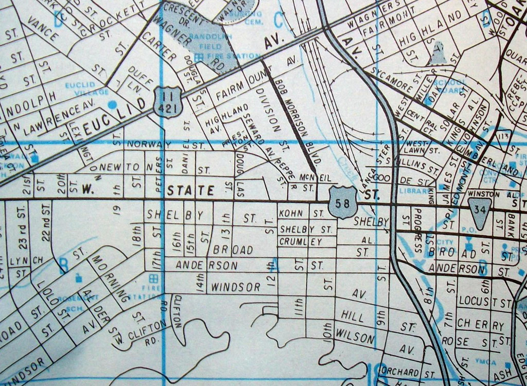 Bristol Tn Va 1981 Map By Champion Maps State Street Us Flickr