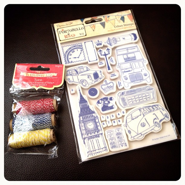 And these too #rubberstamps #yarn #thread #string #british