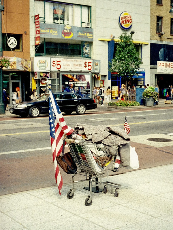 Homeless Patriot's Junk Wagon