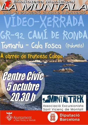 Vídeo-xerrada: GR-92 Camí de ronda Tamariu - Cala Fosca (Palamós) @ Centre Cívic 5 octubre 20. 30 h. by bibliotecalamuntala