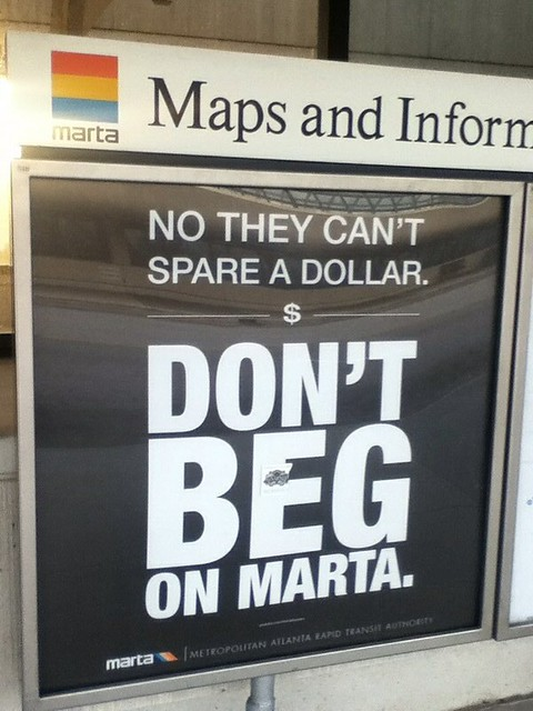 Don't Beg on MARTA