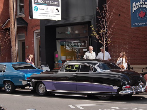 Modern Space and antique cars